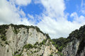Rock cliff over blue sky Royalty Free Stock Photo