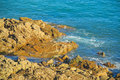 Rock cliffs in the sea Royalty Free Stock Photo
