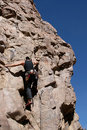 Rock climber in Arizona Royalty Free Stock Image