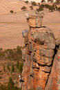 Rock Climber at Mt Arapiles Stock Photography