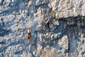 Rock climbers Stock Images