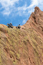 Rock Climbers in Garden of the Gods Royalty Free Stock Photo