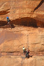 Rock Climbers Royalty Free Stock Photo