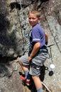 Rock Climbing boy Royalty Free Stock Photo