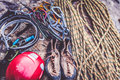 Rock Climbing Equipment Royalty Free Stock Photo
