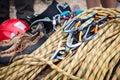Rock Climbing Equipment Royalty Free Stock Photo