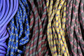 Rock climbing ropes Royalty Free Stock Images