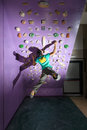 Rock climbing training Royalty Free Stock Photo