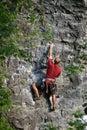 Rock Climbing in Utah Royalty Free Stock Photo