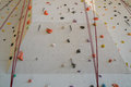 Rock climbing wall indoor sports equipment Stock Images
