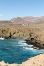 Rock coast near la pared village on the south western part of fuerteventura canary islands spain Royalty Free Stock Photos
