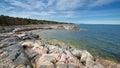 Rock coast at the swedish coastline Royalty Free Stock Photo