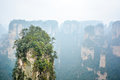 Rock column in Zhangjiajie National forest park Royalty Free Stock Photo