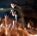 Rock concert blur Royalty Free Stock Photo