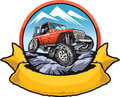 Rock crawling car vector illustration for logo of vehicle club Royalty Free Stock Photos
