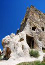 Rock cut church house Cappadocia Royalty Free Stock Photo