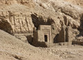 Rock cut tomb near mortuary temple of hatshepsut entrance a the in egypt Stock Images