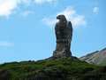 Rock eagle on the Simplon Pass in Switzerland. Royalty Free Stock Photo