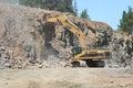 Rock Excavation Royalty Free Stock Photo