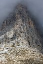 Rock face in Tre Cime National Park, Dolomites, Italy Royalty Free Stock Photo