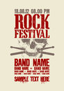 Rock festival design template. Royalty Free Stock Photos