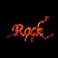 Rock flame. Stock Photography