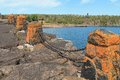 Rock Formation Along Lake Superior Royalty Free Stock Photo
