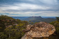Rock formation in blue mountains of australia unusual Royalty Free Stock Photos