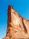 Rock formation courthouse twoers area arches nationla park utah usa Stock Photography