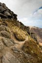 Rock formation on Goatfell Royalty Free Stock Photos
