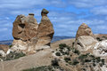 A rock formation known as 'The Camel at the Devrent Valley in the Cappadocia region of Turkey. Royalty Free Stock Photo