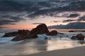 Rock formation at Woods Cove, Laguna Beach, Califo Stock Photos