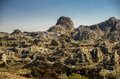 Rock formations in park isalo madagascar interesting and massive national Royalty Free Stock Photography