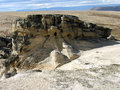 Rock formations in patagonia el calafate Stock Image