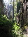 Rock formations skalne mesto in czech republic Stock Photos