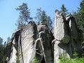 Rock formations skalne mesto in czech republic Royalty Free Stock Photo