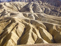 Rock formations strange of zabriskie point death valley Stock Photography