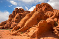 Rock formations in the valley of fire unusual state park nevada usa Stock Photo