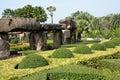 Rock garden of park nong nooch tropical garden thailand pattaya Royalty Free Stock Photos