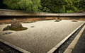 Rock Garden Ryoanji - Kyoto, Japan Royalty Free Stock Image