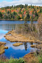 Rock Lake In Autumn Stock Image