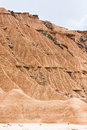 Rock landslides in Bardenas Reales, Navarra, Spain Royalty Free Stock Photos