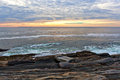 The rock ledges at Pemaquid Point, Maine Stock Image