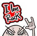 Rock love creative design of Stock Photo