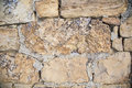 Rock and mortar wall background the cracked crumbling handmade stone edge pattern mortared structure instills strength weathers Royalty Free Stock Images
