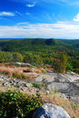 Rock mountain peak panorama view Royalty Free Stock Photos