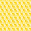 Honeycomb hexagon yellow shade pattern vector background abstract