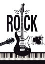 Rock music background Royalty Free Stock Photo