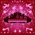 Rock music background keyboard Royalty Free Stock Image