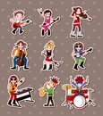 Rock music band stickers Royalty Free Stock Photo
